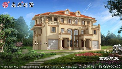 双拼三层农村新住宅,双车库更便捷